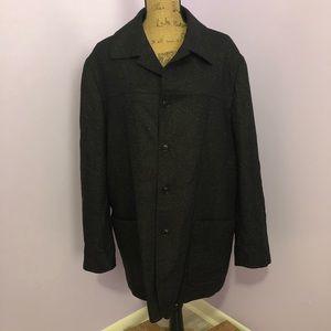 Ibiza Black Wool/Cashmere Coat Size 44R